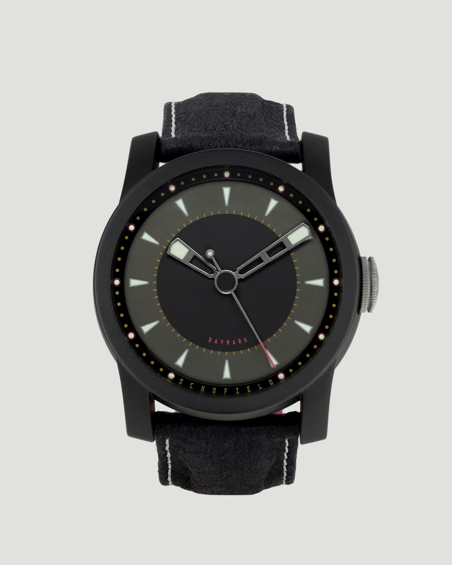 Black ceramic watch Daymark Dark