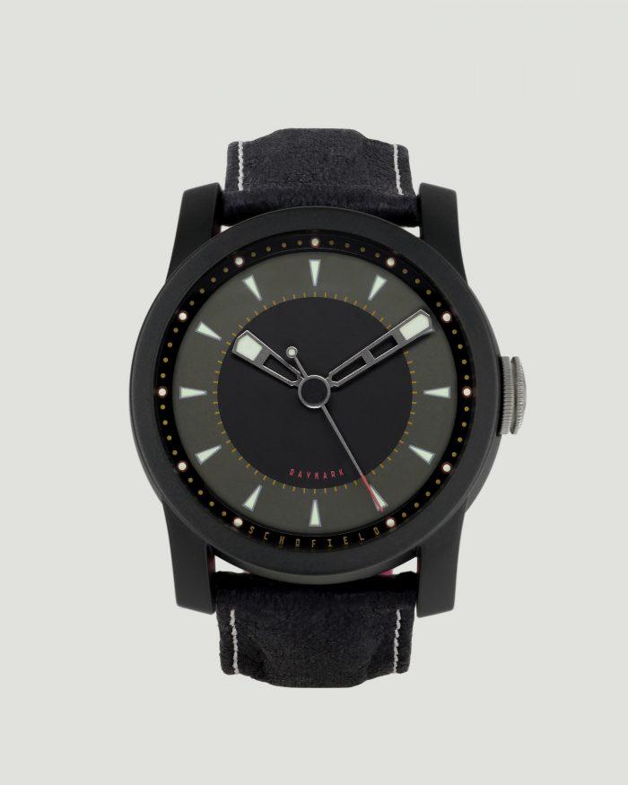Black ceramic watch Daymark Dark