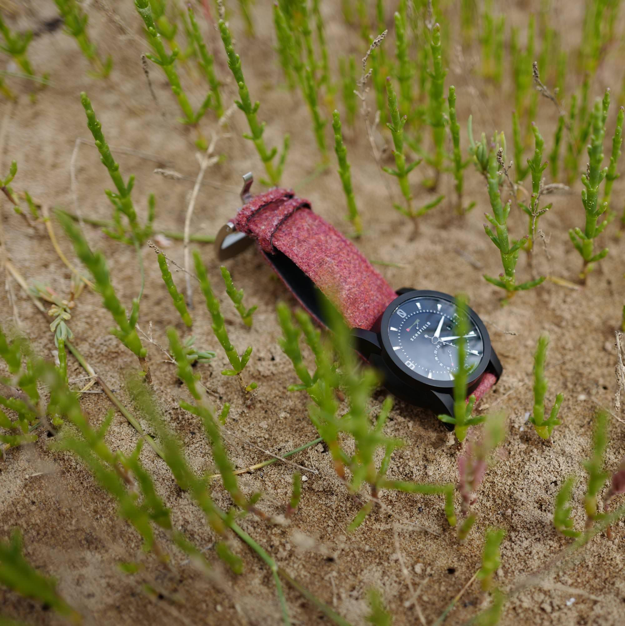 Pink watch strap
