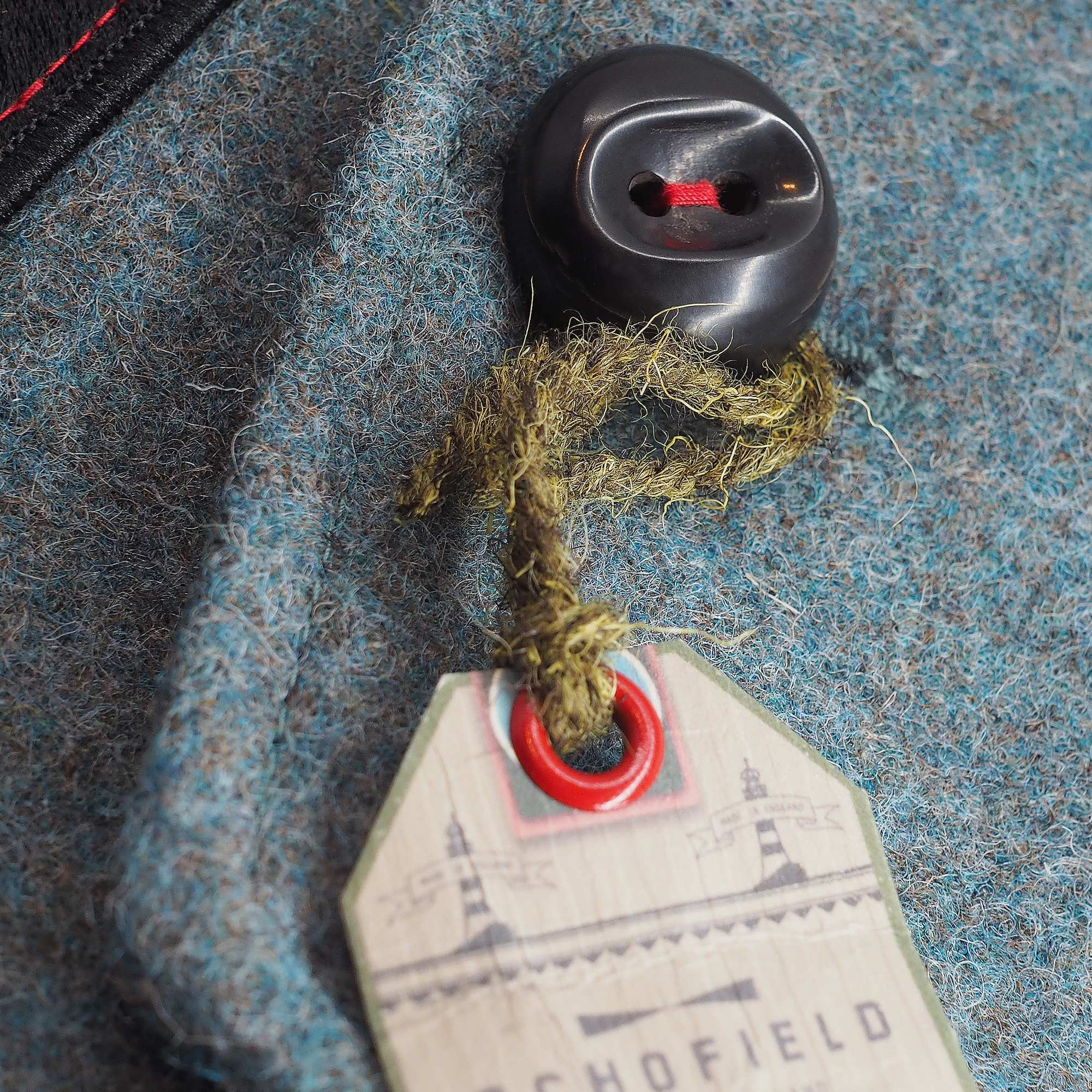 Horn button and swing tag