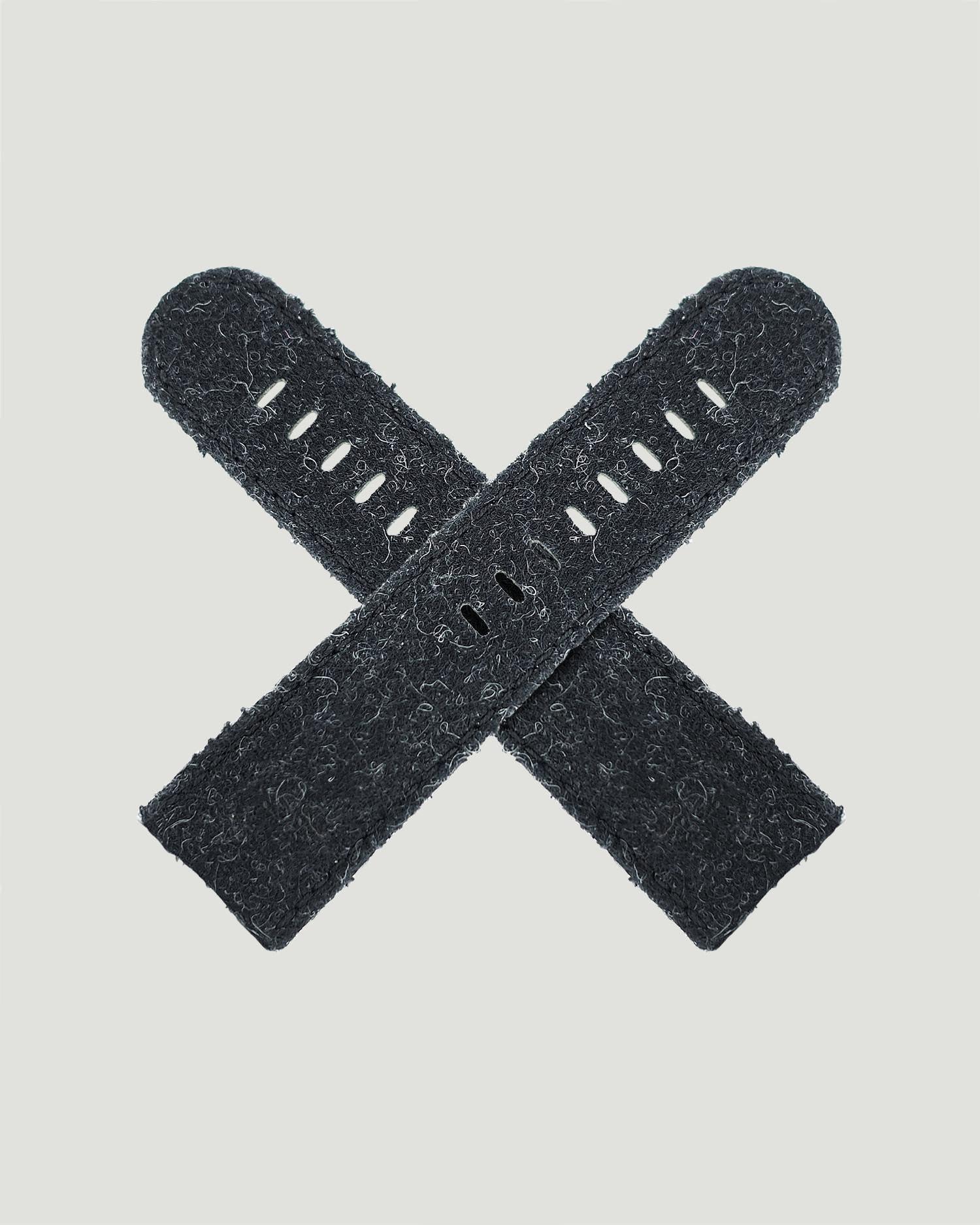 Black watch strap fluffy