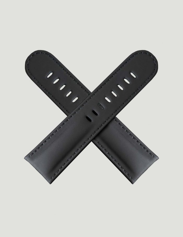 Black India Rubber watch strap