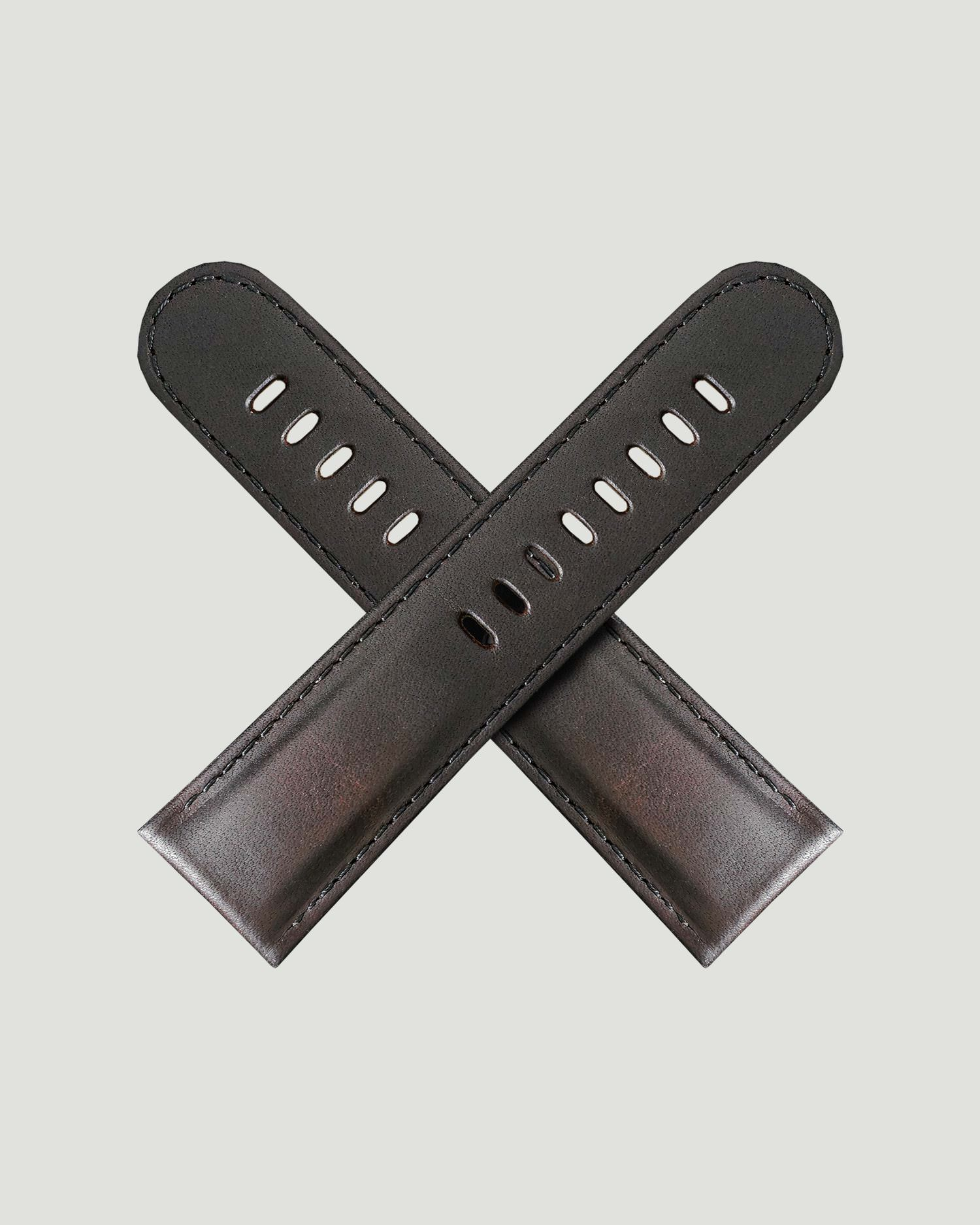 Clayton brown leather watch strap
