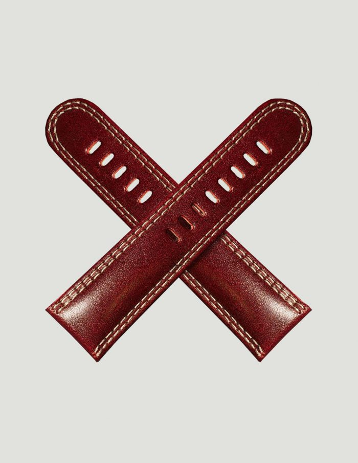 Dark red cricket ball strap
