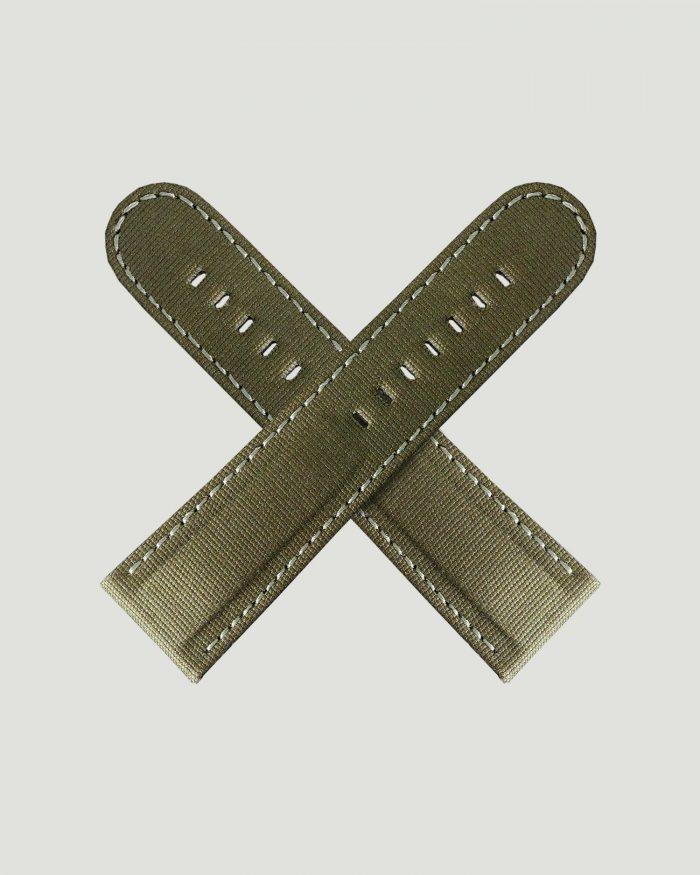 Green canvas strap
