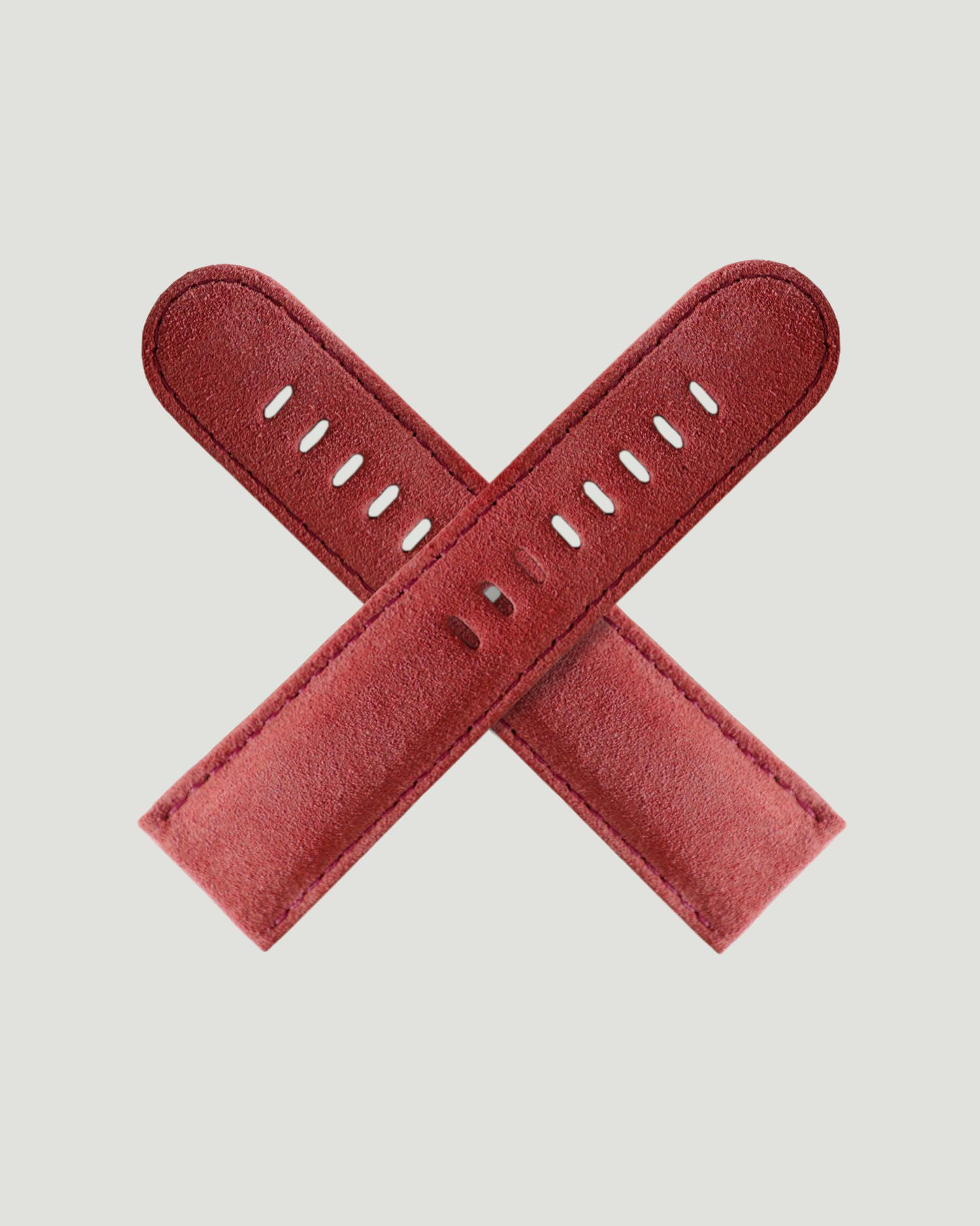 08a2a6d34ad Pink watch strap made from fine Milanese suede