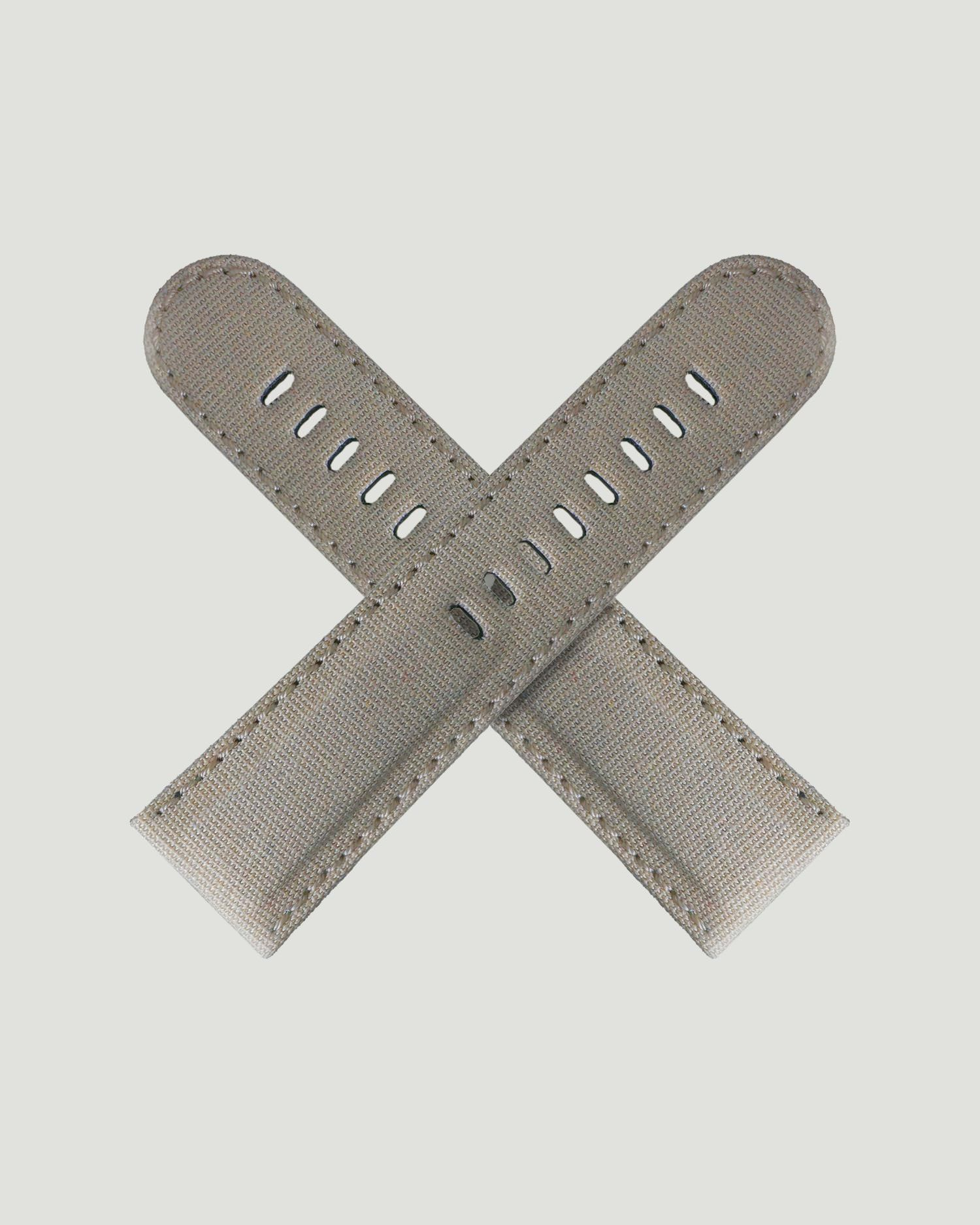 Sand canvas watch strap