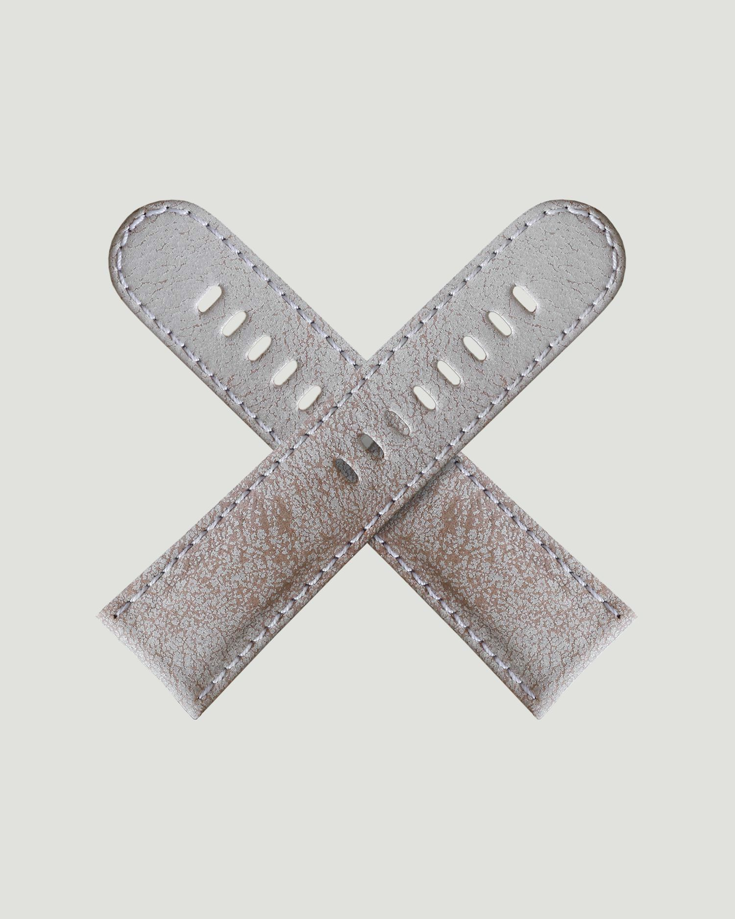 White leather strap