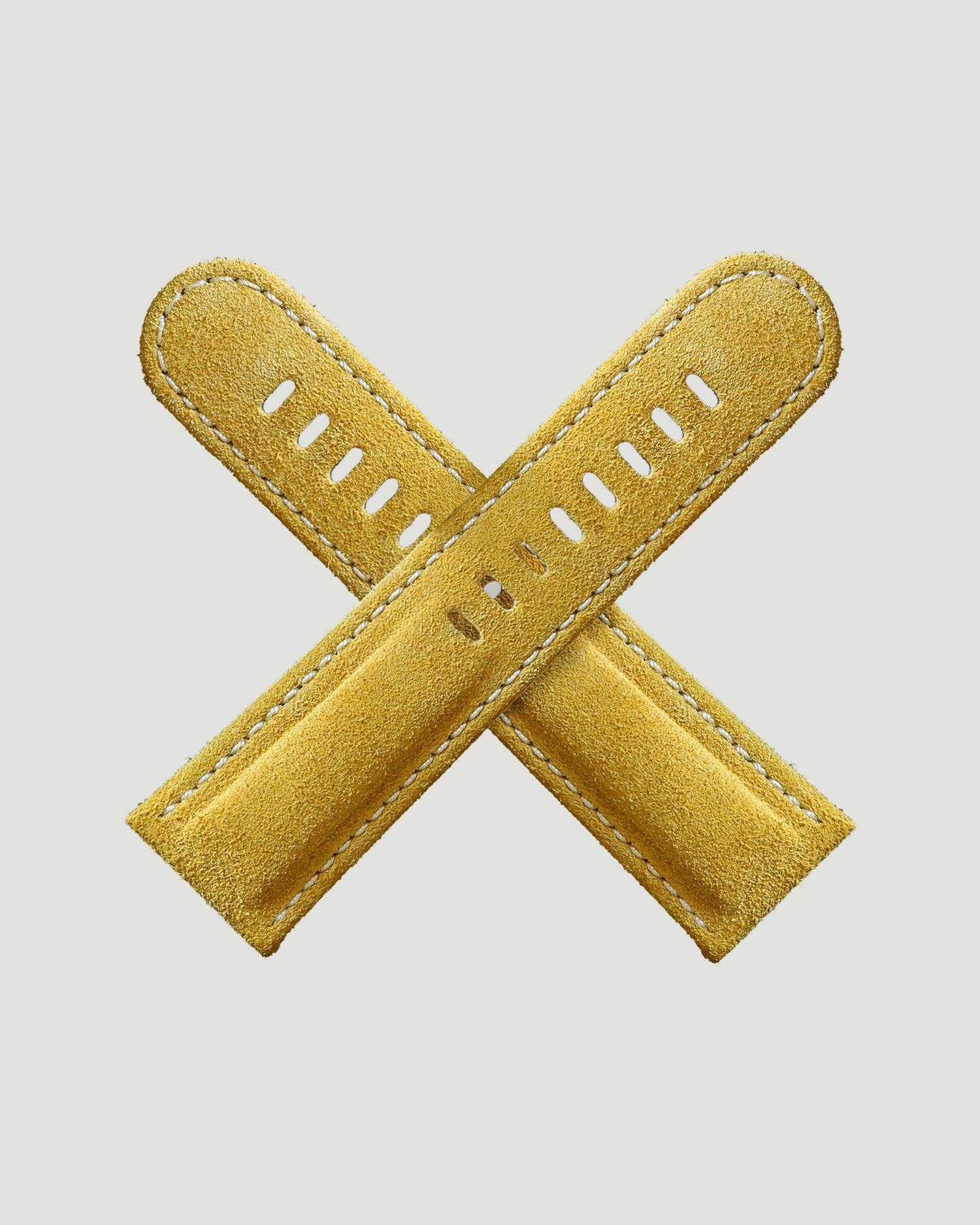 Yellow watch strap