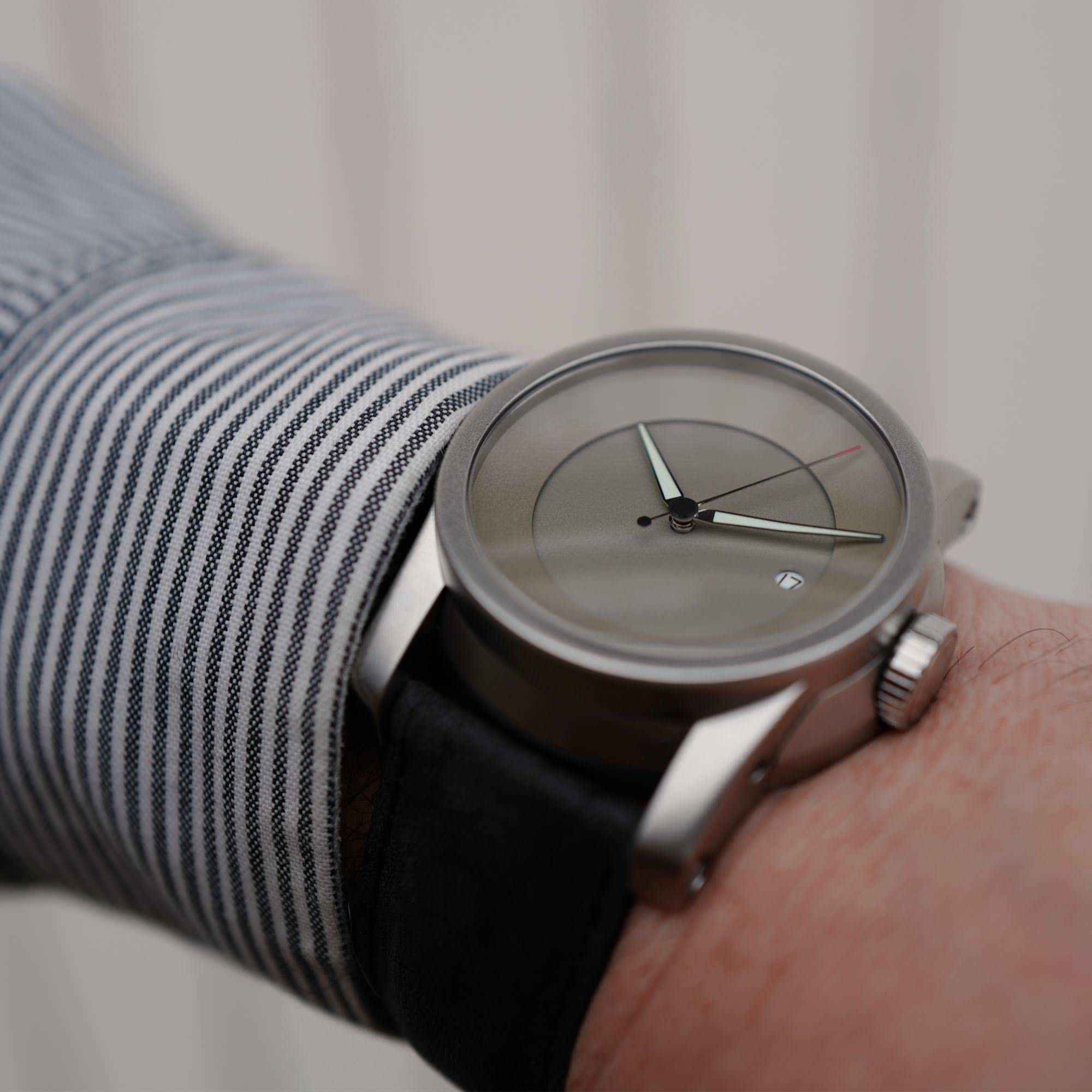 German Silver on the wrist