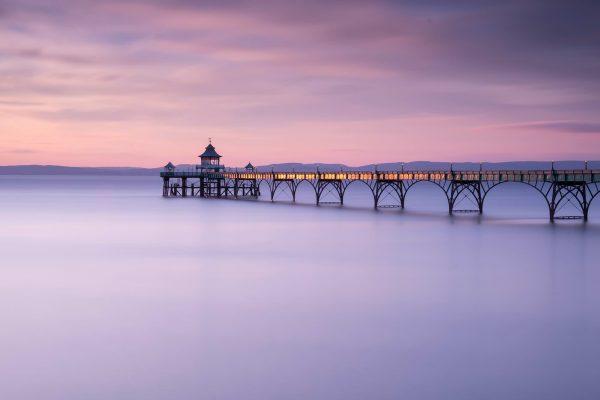 Clevedon Pier in Pastels