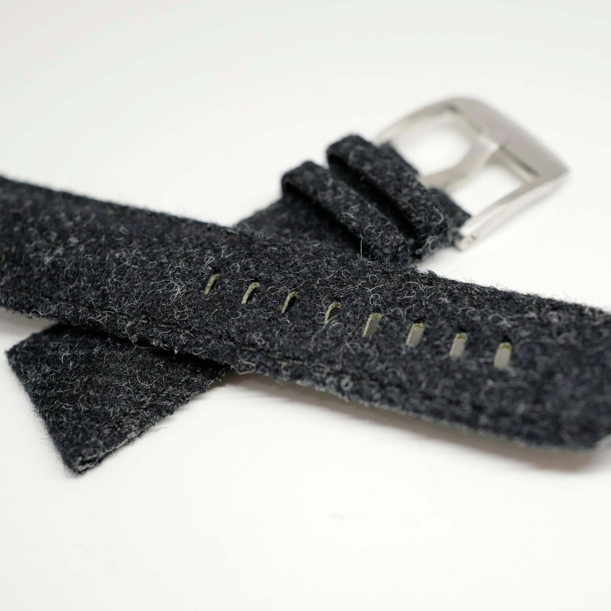 Black Tweed straps