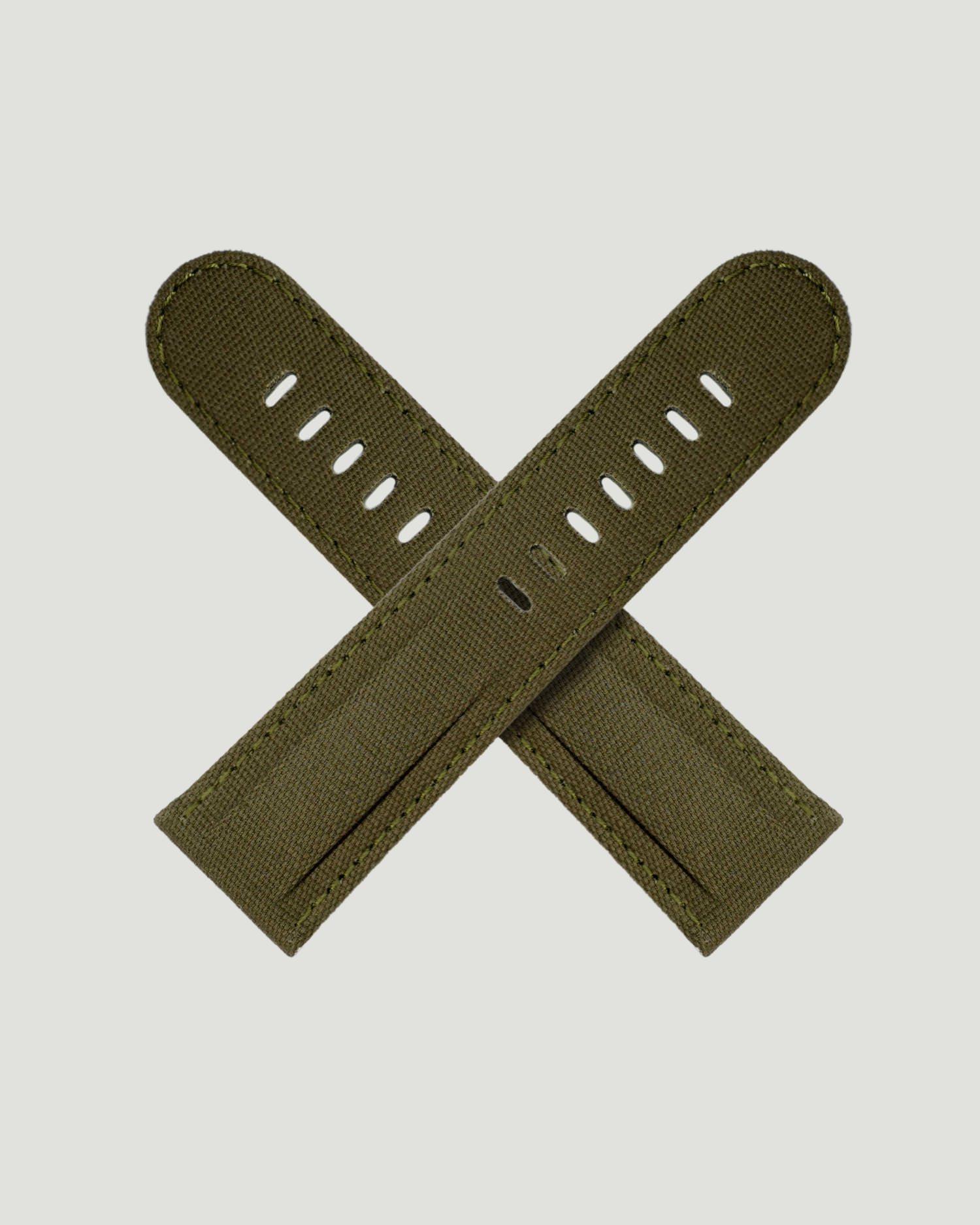 Green Canvas watch strap