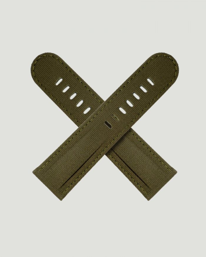 Green Canvas watch strap