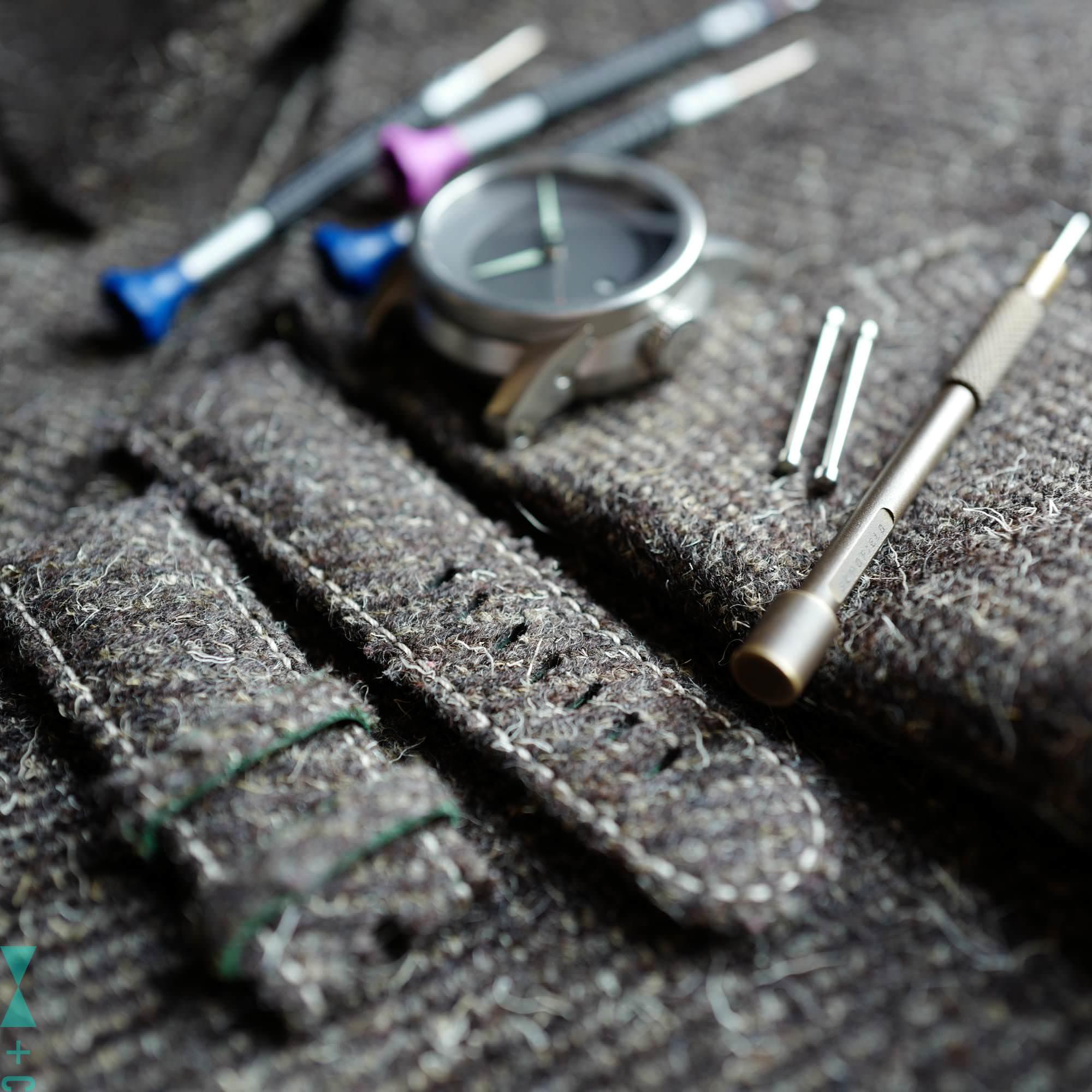 Herdwick tweed straps