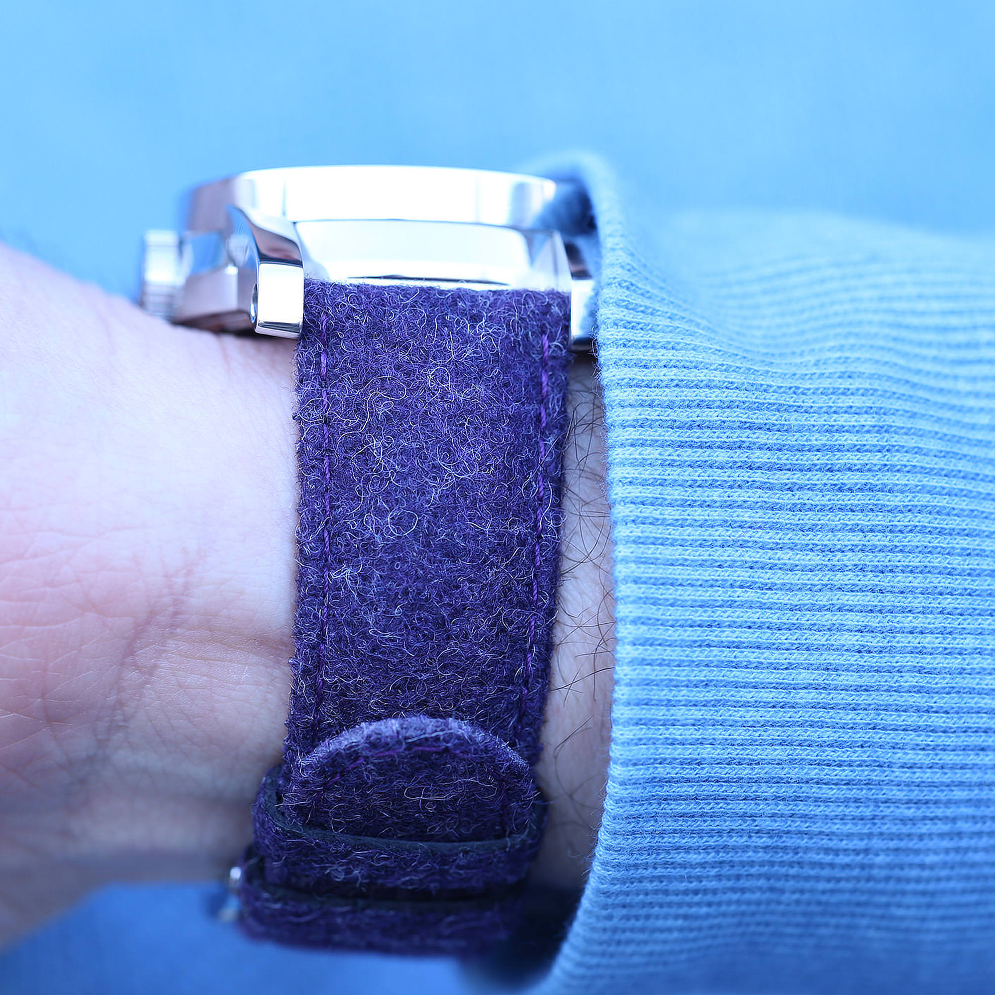 Purple Tweed watch strap