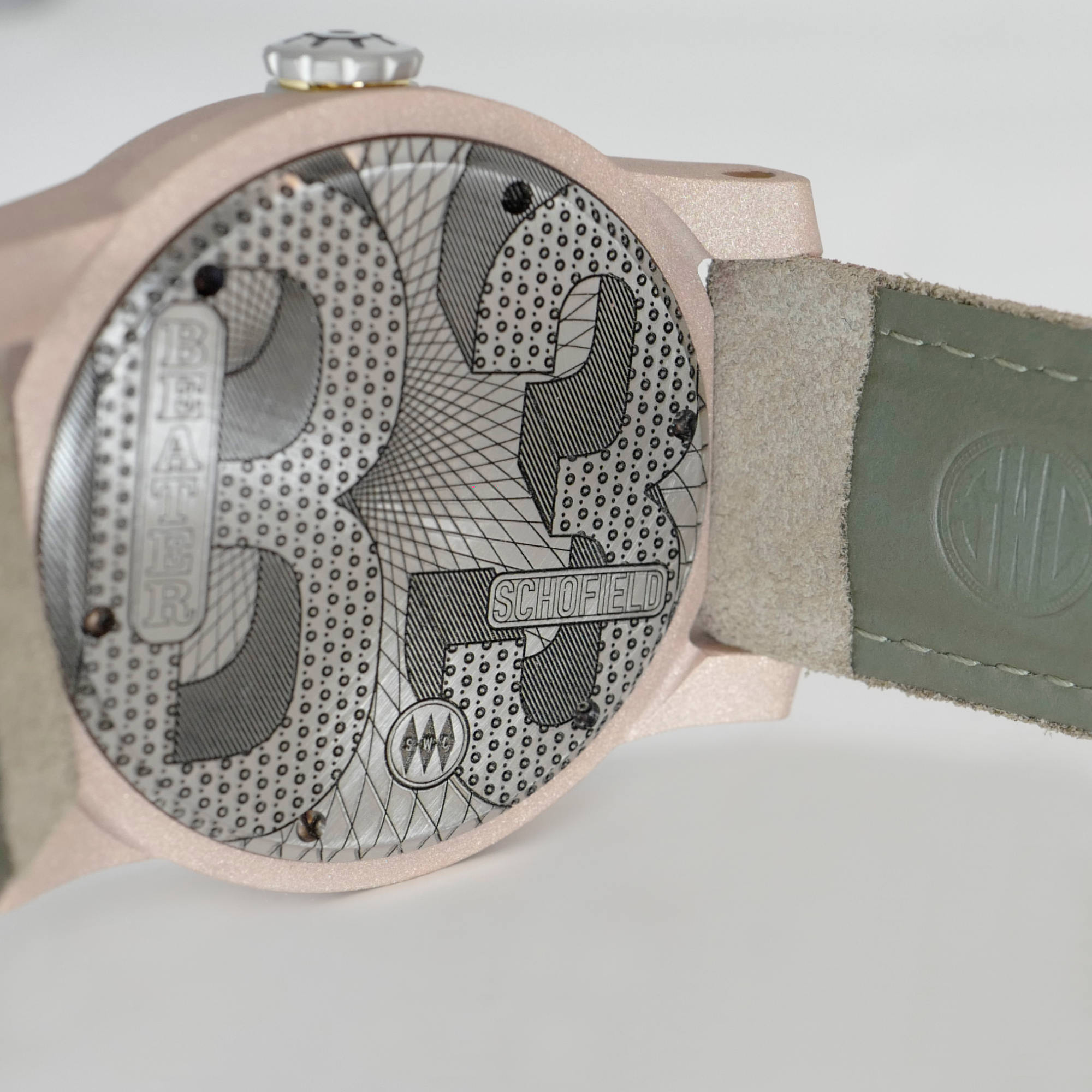 Raw bronze watch