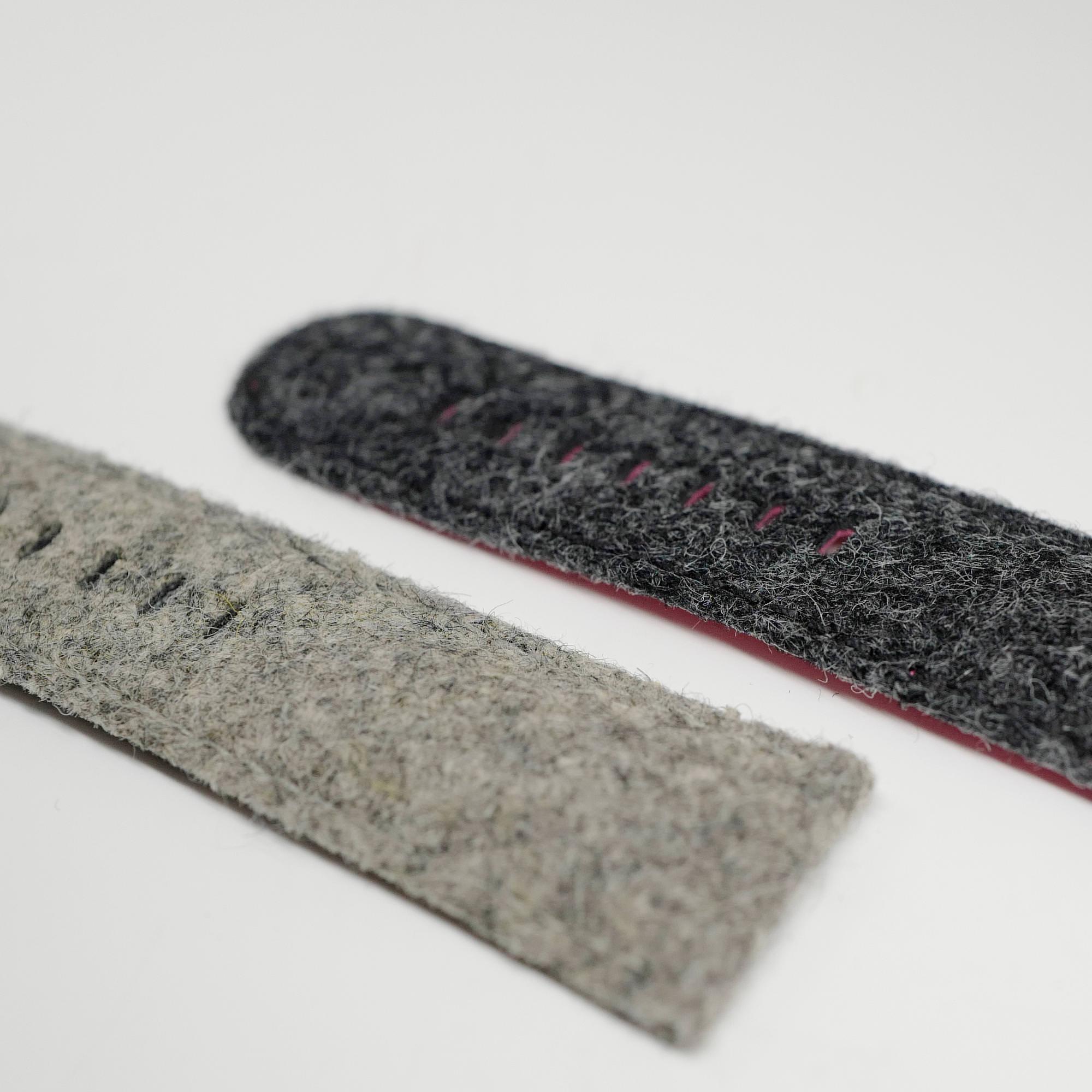 Grey tweed straps