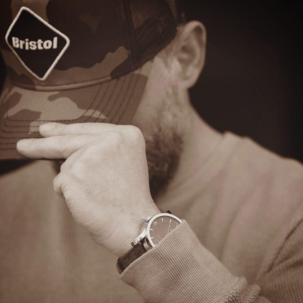 Giles Ellis wearing cap