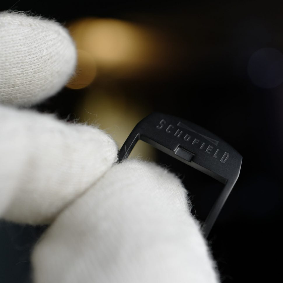 Schofield DLC black watch buckles