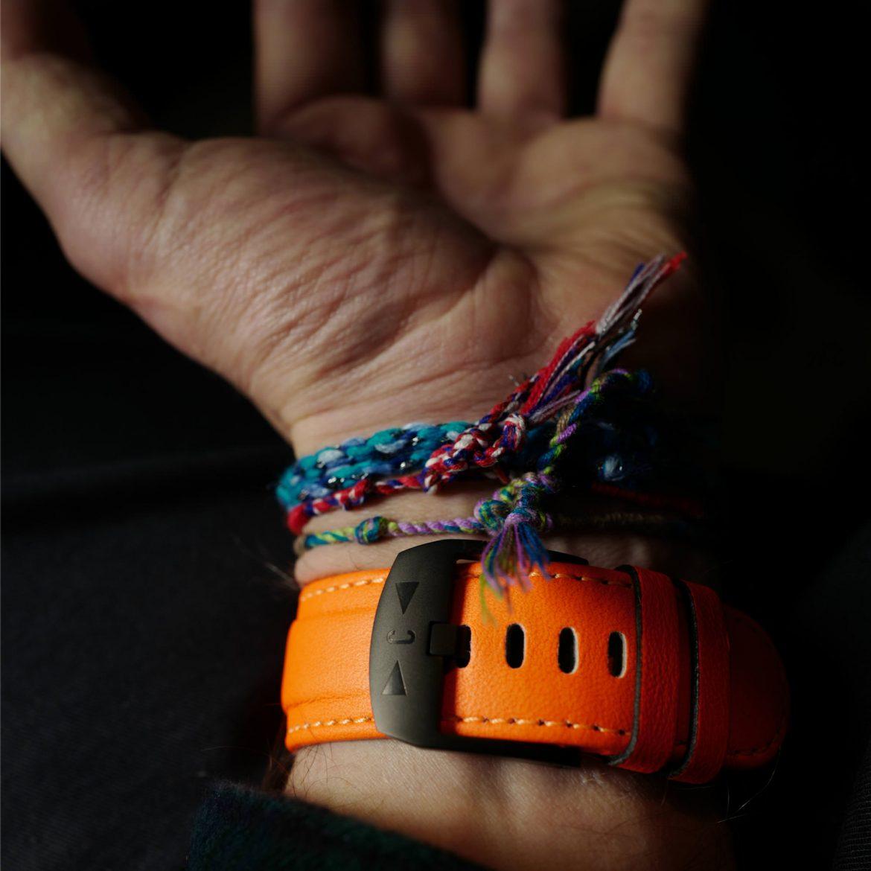 Fluro orange watch strap
