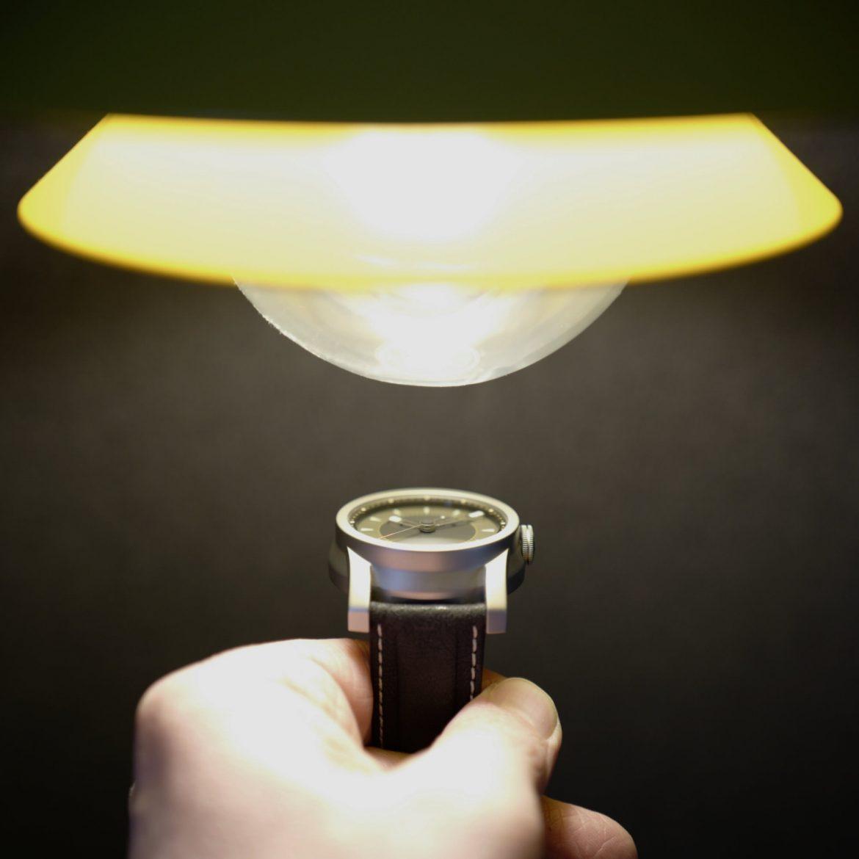 Daymark watch under a lamp