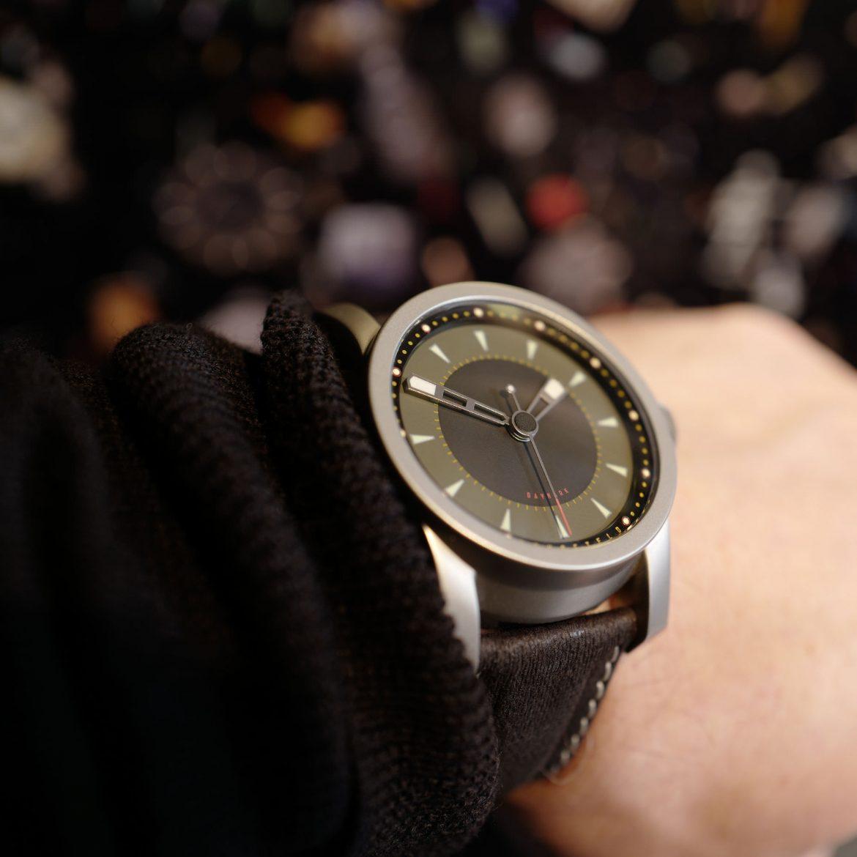 Daymark automatic watch on wrist