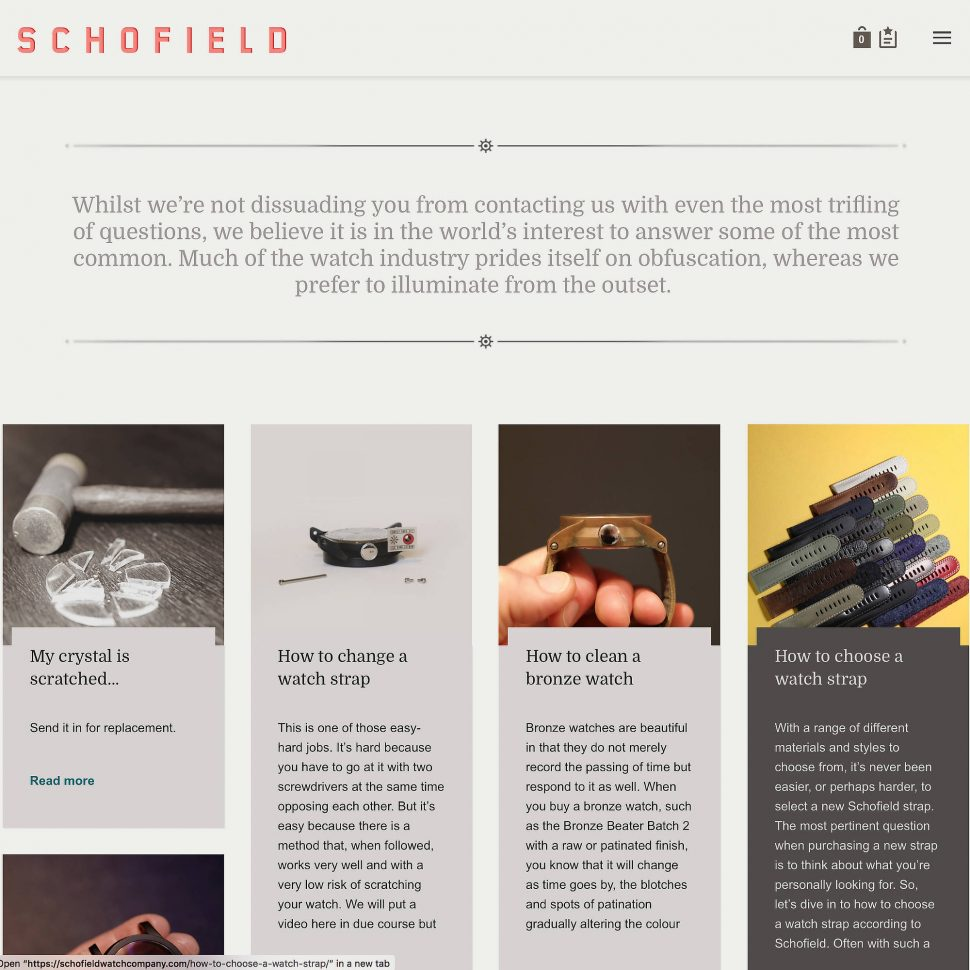 Schofield Questions page