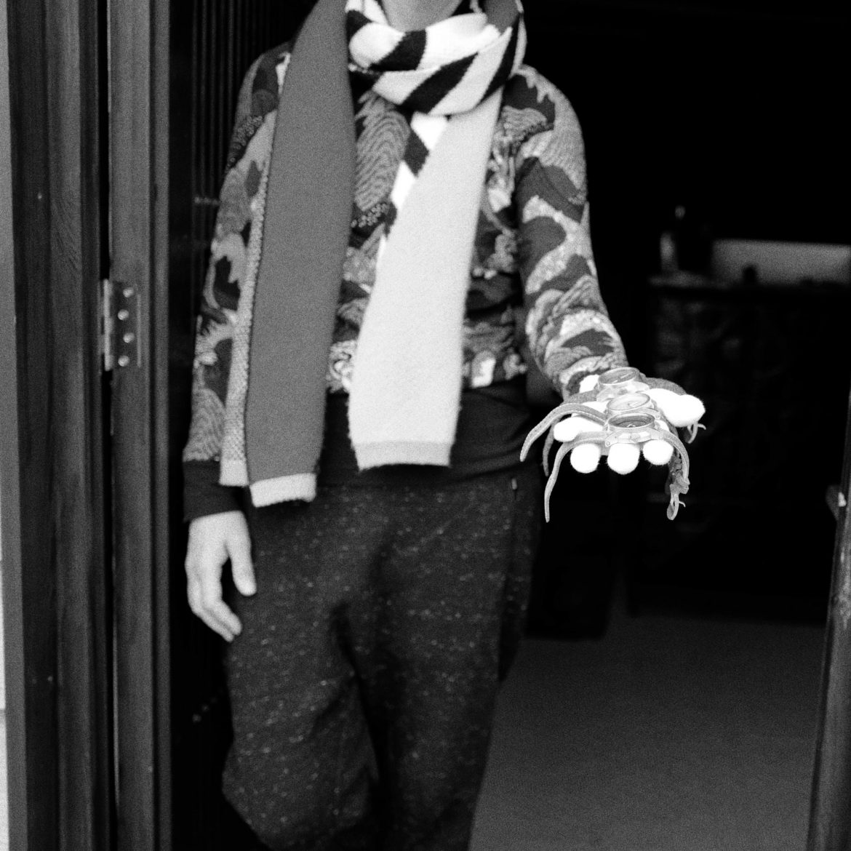 Signalman Bare Bones held by Giles Ellis