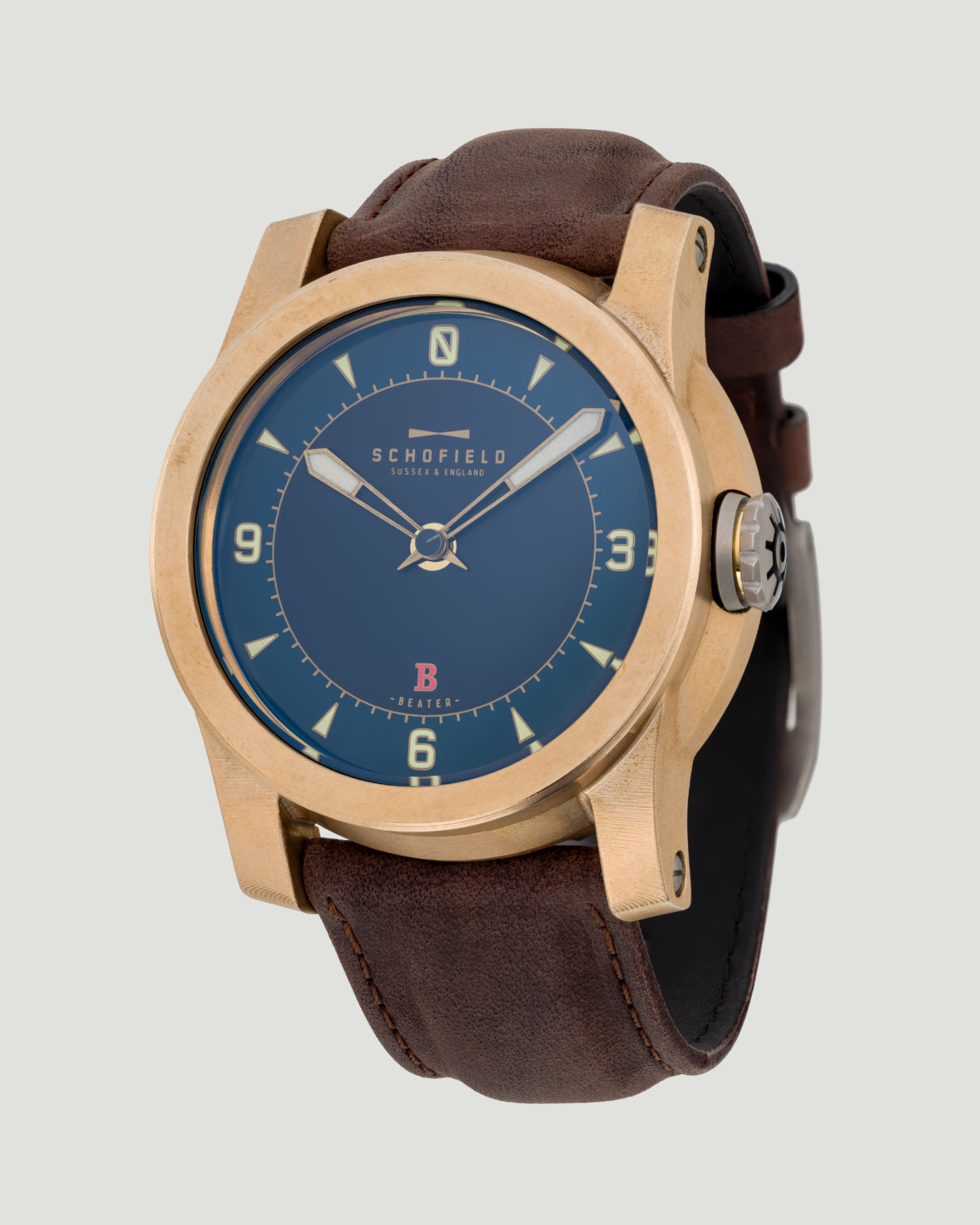 Raw Bronze watch Schofield Beater B3