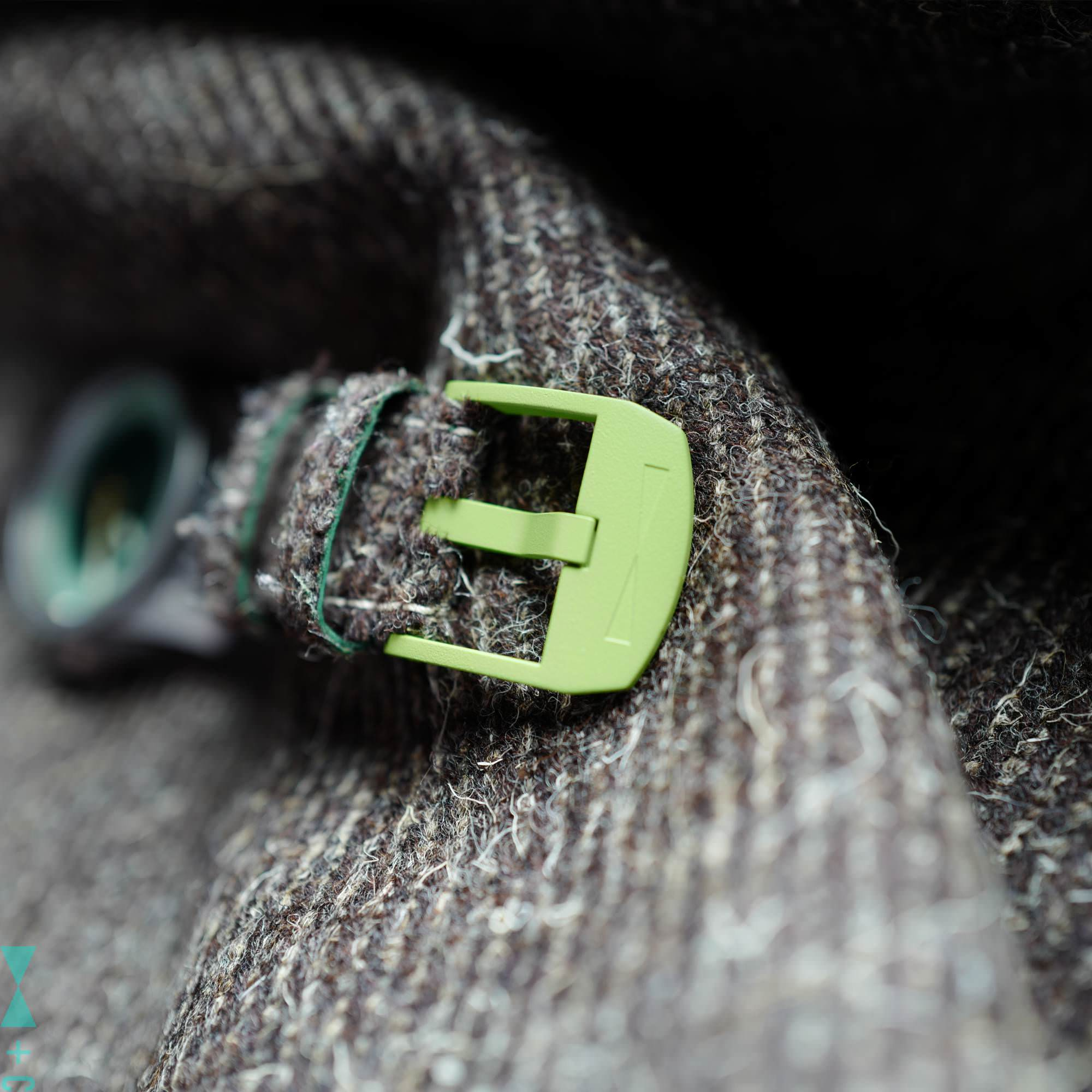 Herdwick with green buckle strap