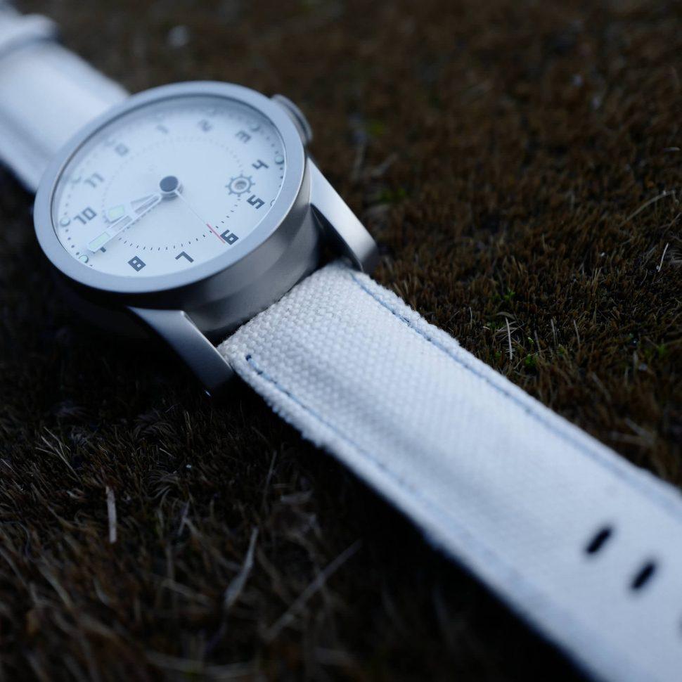 Telemark watch on Japanese canvas