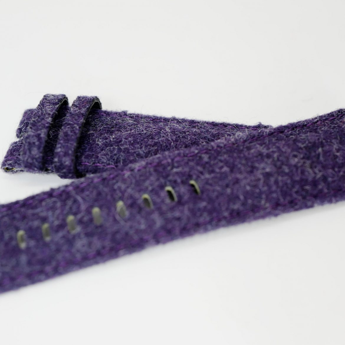 Purple Tweed watch strap close