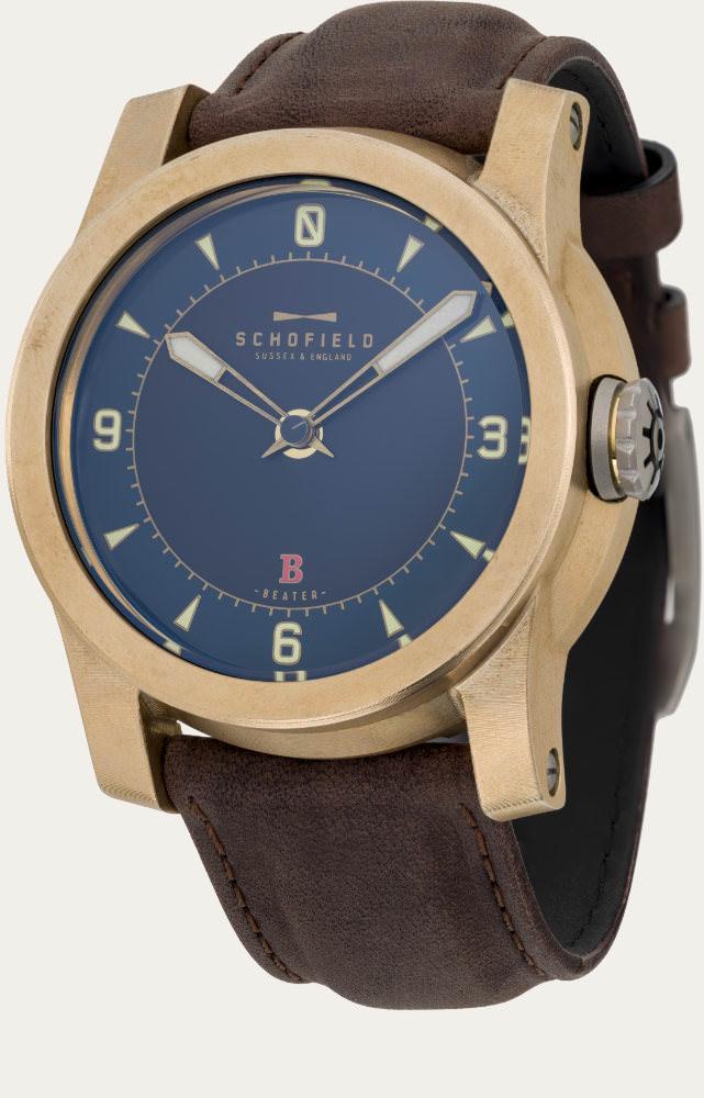 Schofield raw Bronze watch