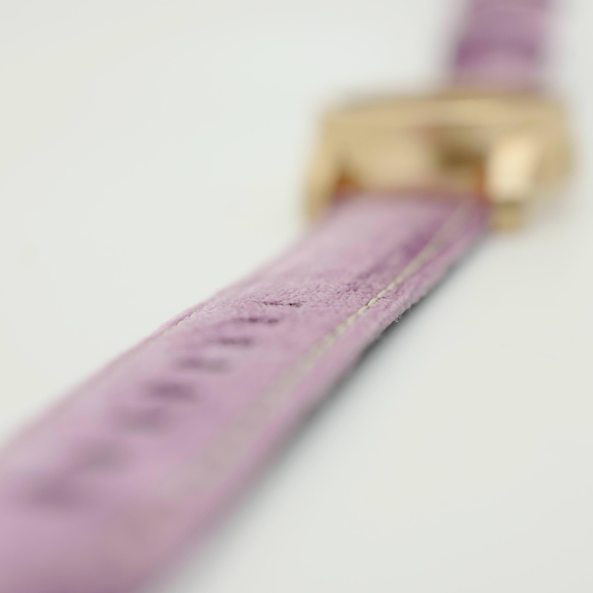 Pink Velvet strap on Raw Bronze watch