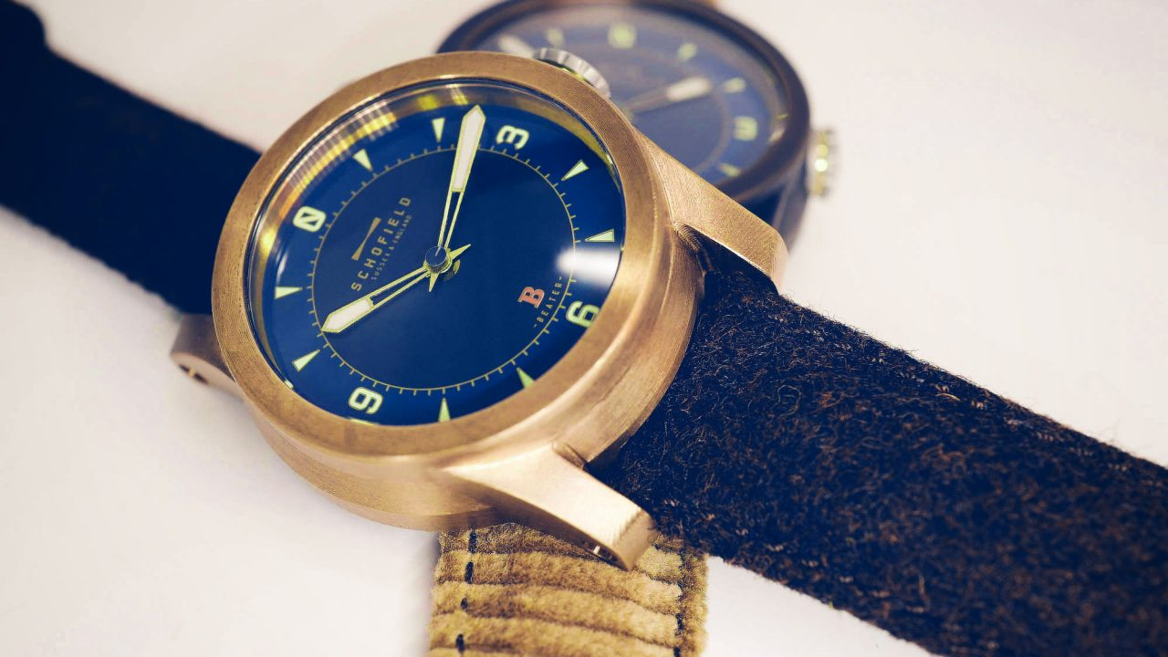 Bronze watches made in Britain