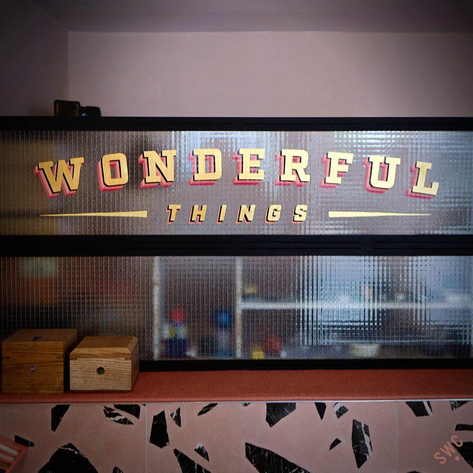 Wonderful things sign