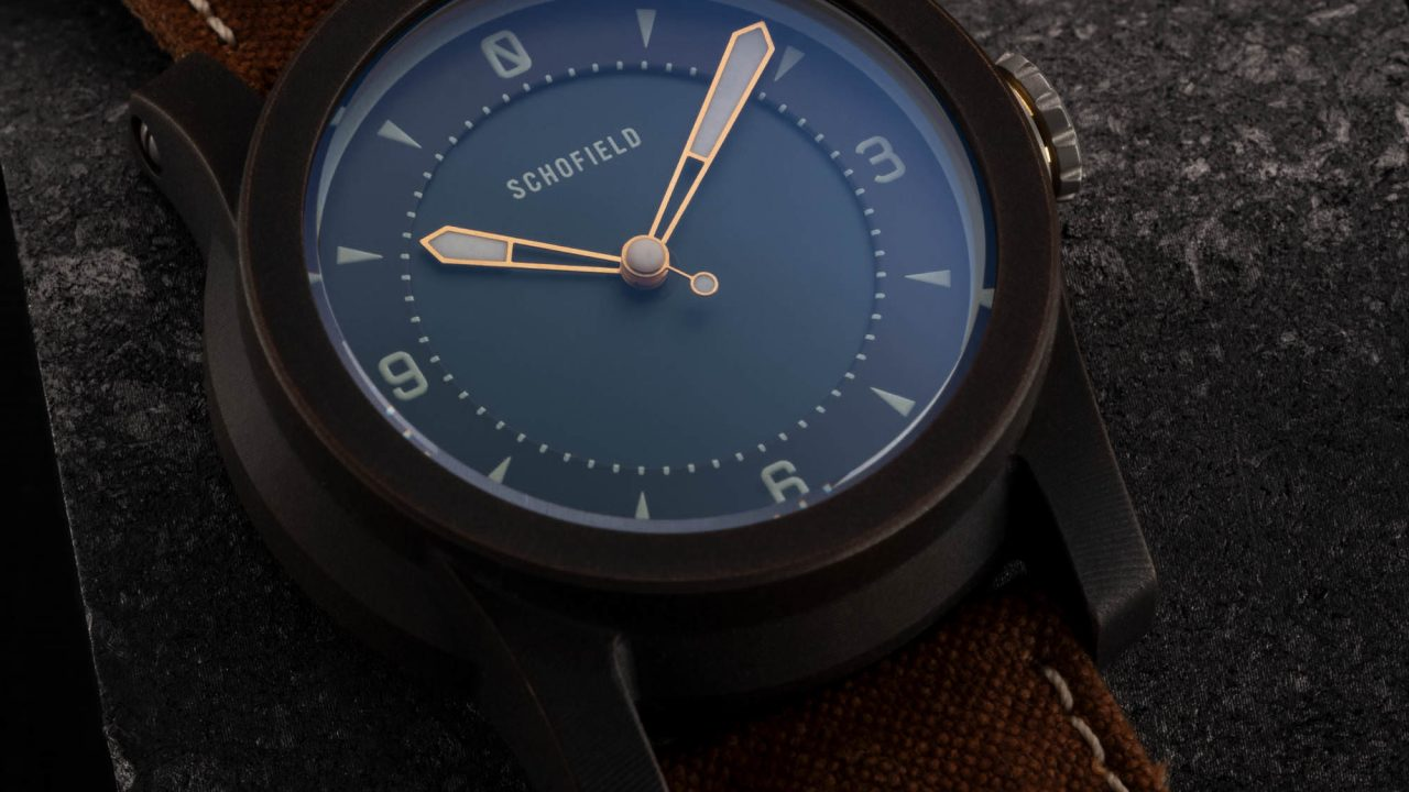 Japanese watch with indigo dial