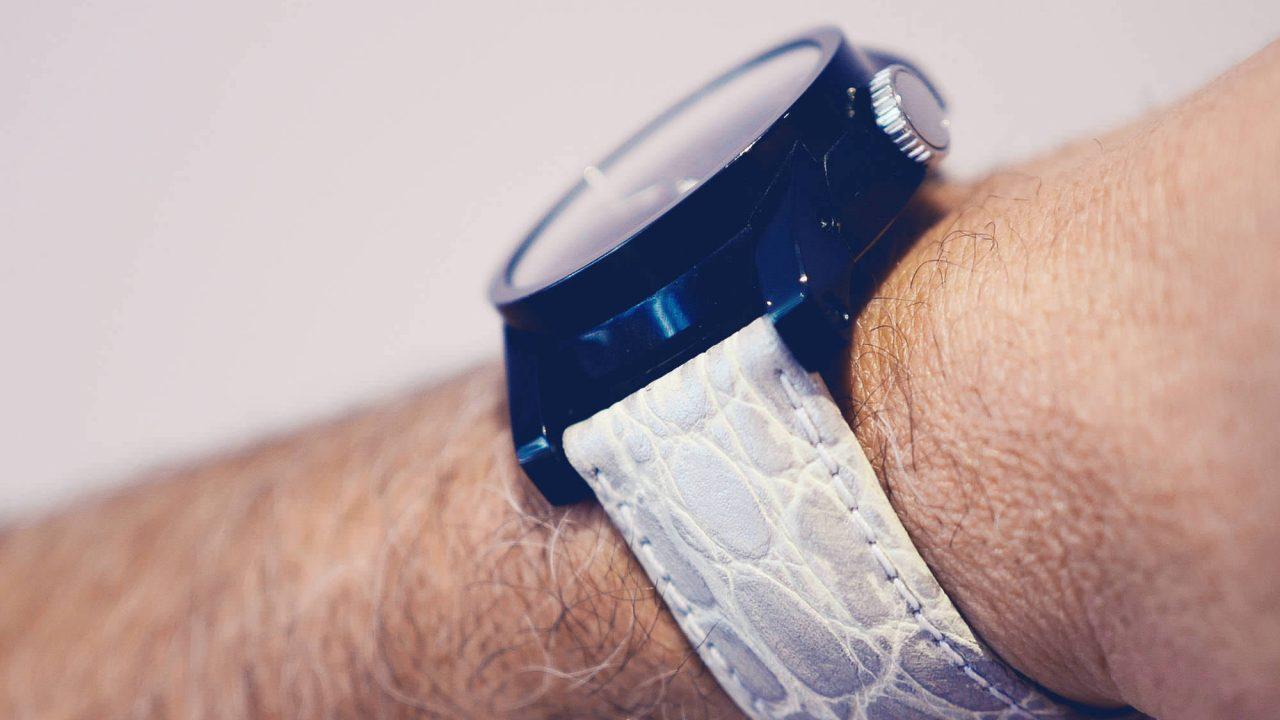 silver watch strap